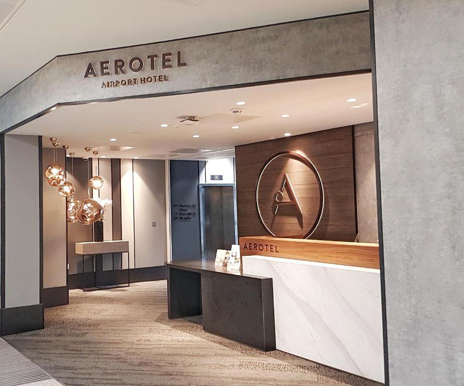 The lobby or reception area at Aerotel T3 London Heathrow