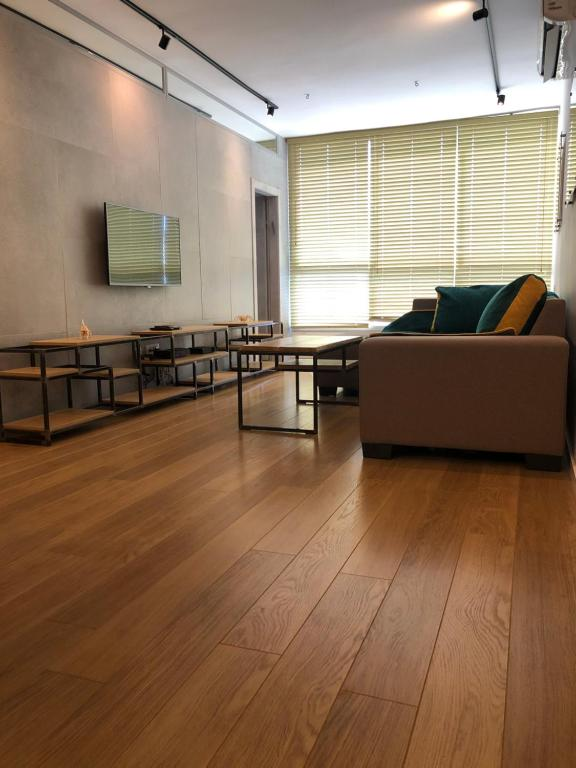 A seating area at W Apartments