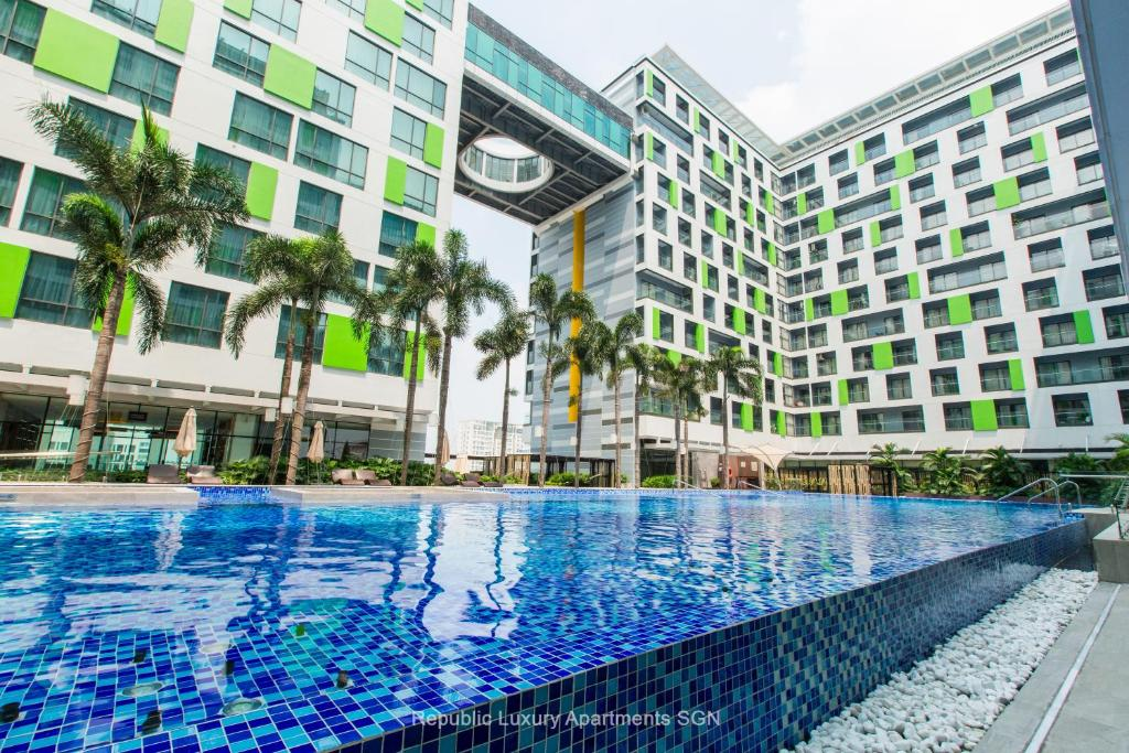 The swimming pool at or near Republic Apartments Saigon Airport