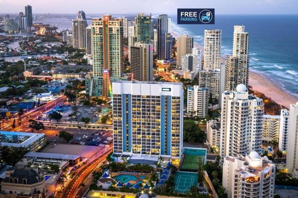 A bird's-eye view of 4 Star Studio at Surfers Paradise L7