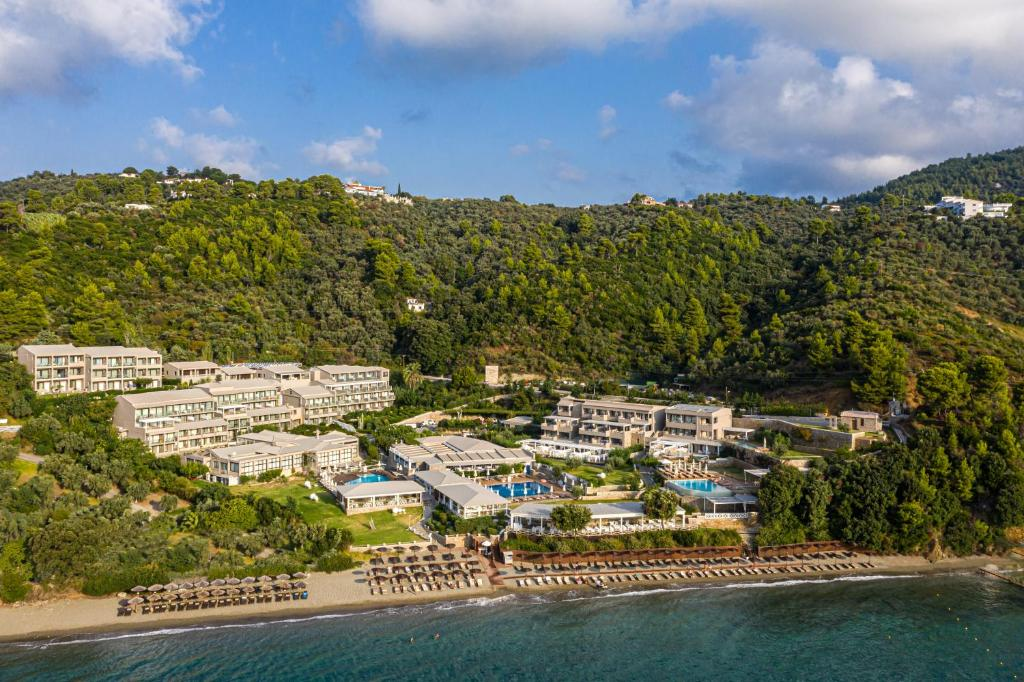 A bird's-eye view of Kassandra Bay Resort