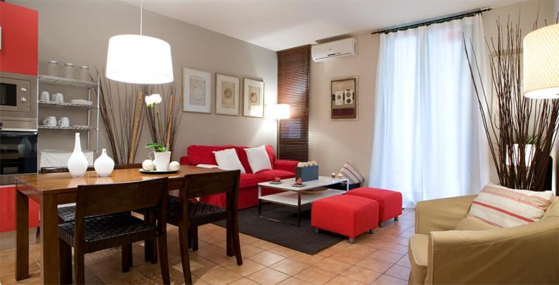 Ein Sitzbereich in der Unterkunft Apartments Barcelona & Home Deco Gotico