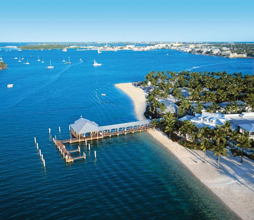 A bird's-eye view of Sunset Key Cottages