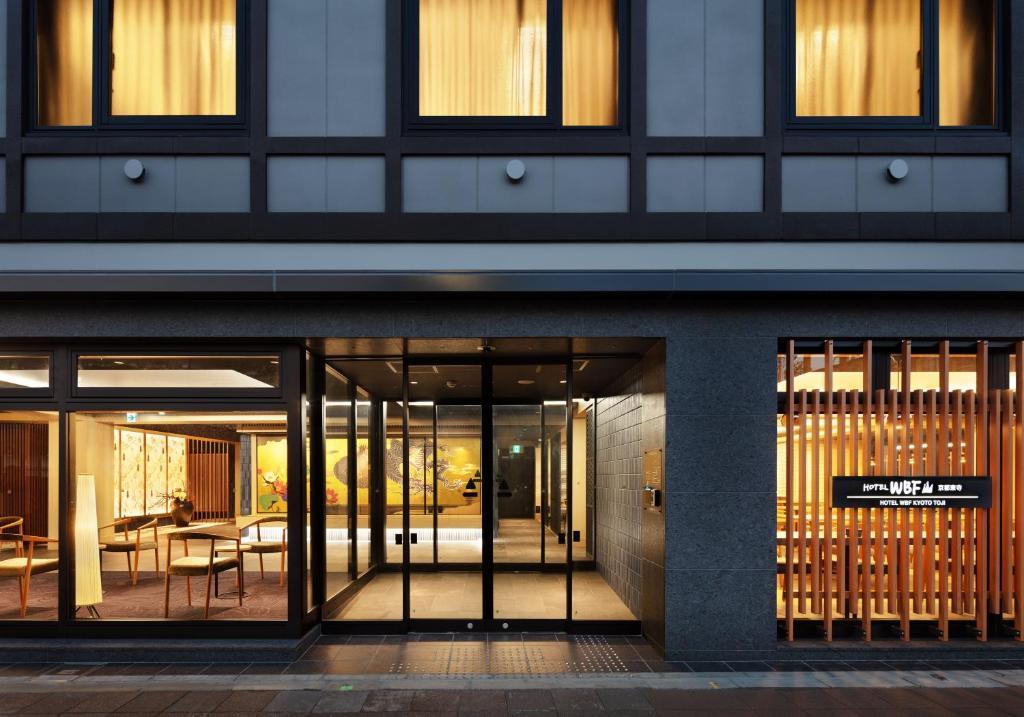 The facade or entrance of Hotel WBF Kyoto Toji