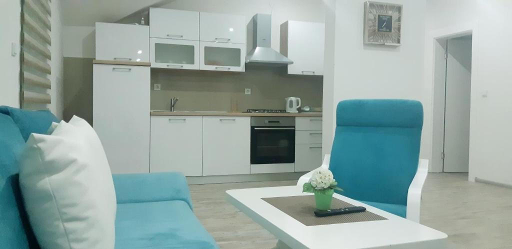 A kitchen or kitchenette at Apartmani Bilić
