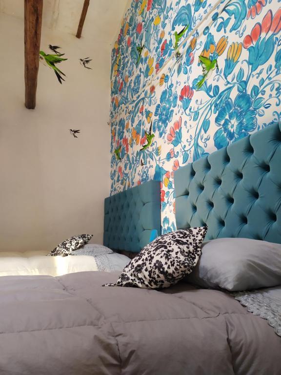 Cama o camas de una habitación en Historical Center Apartment