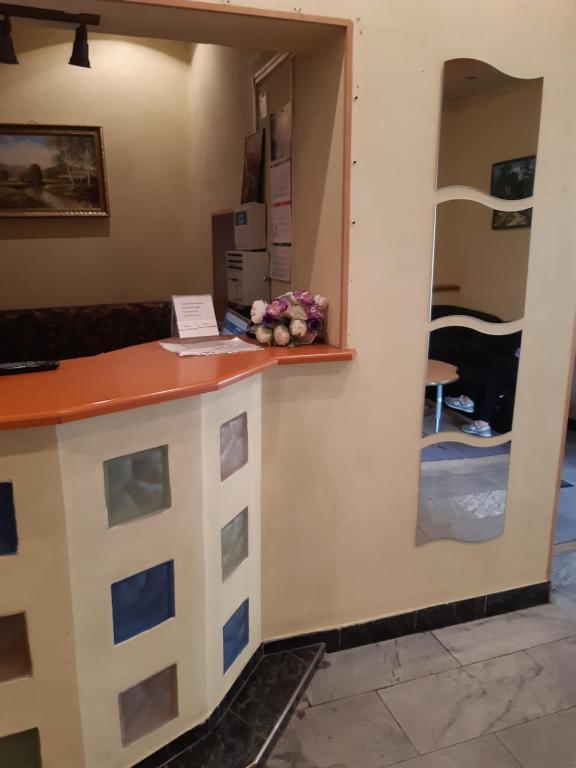 The lobby or reception area at Fili Inn