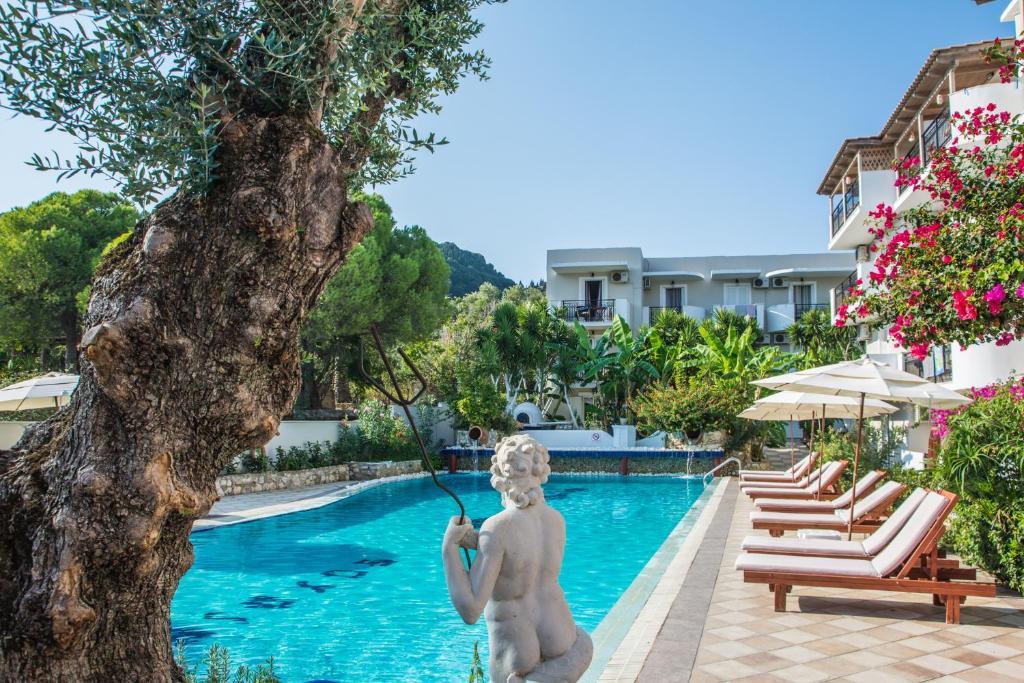 The swimming pool at or near Iniohos Hotel (ex Apollo)
