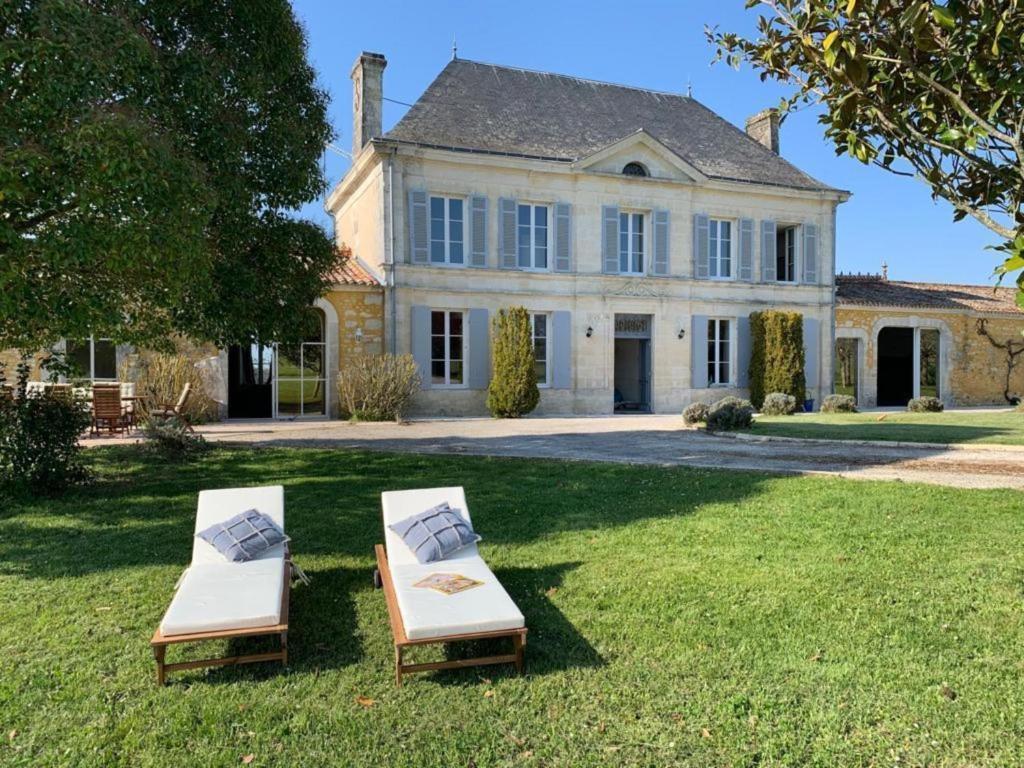 A garden outside Luxury Chateau France - Pool
