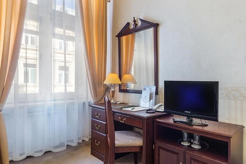 Телевизор и/или развлекательный центр в Гостиница Будапешт