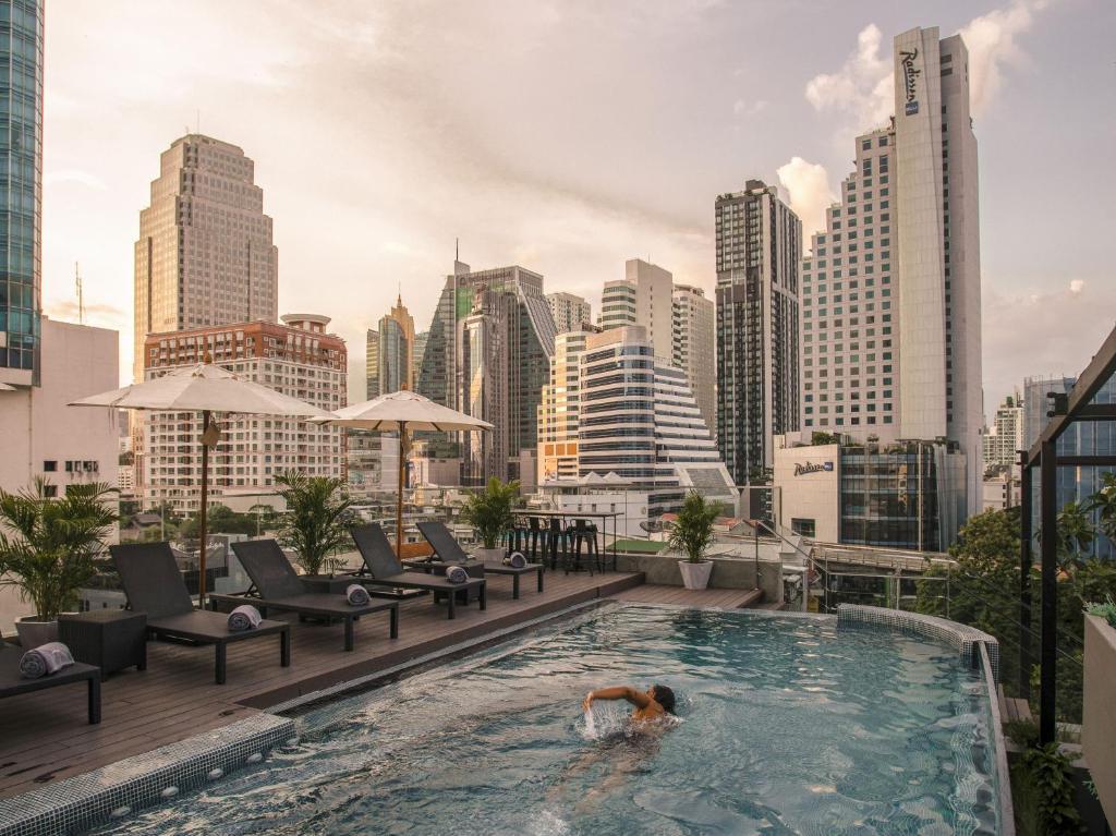 The swimming pool at or near Akyra TAS Sukhumvit Bangkok