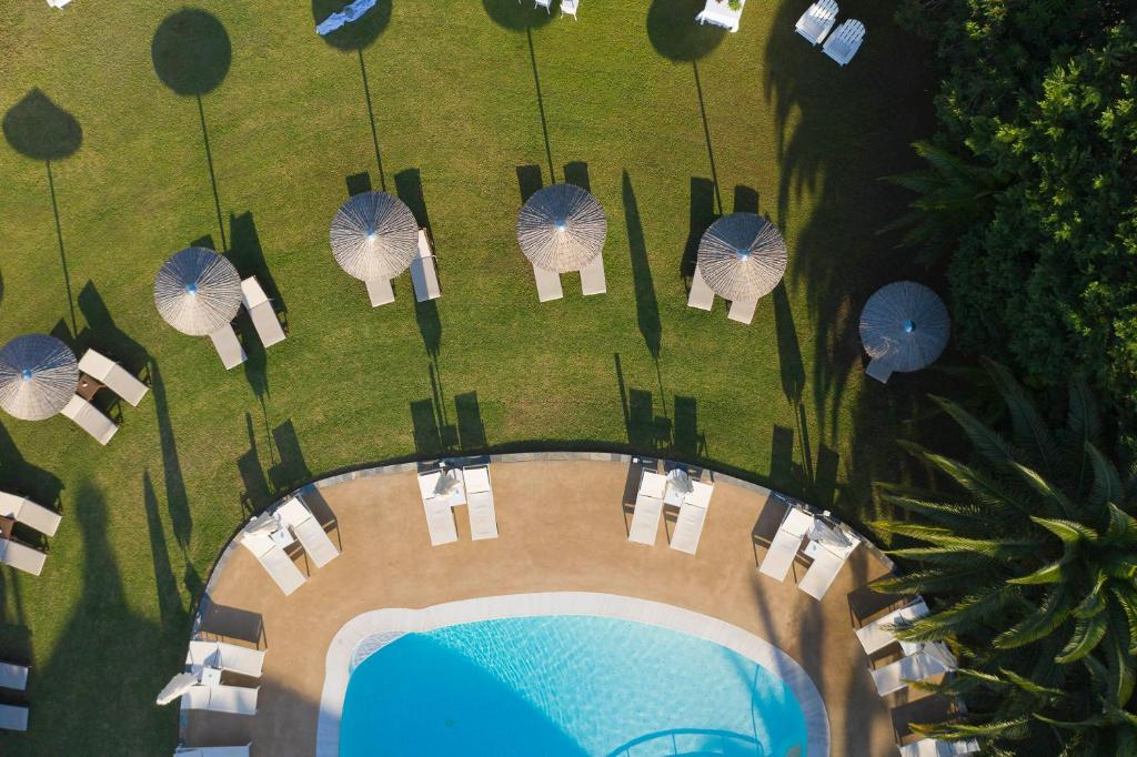 A view of the pool at Mandraki Village Boutique Hotel or nearby