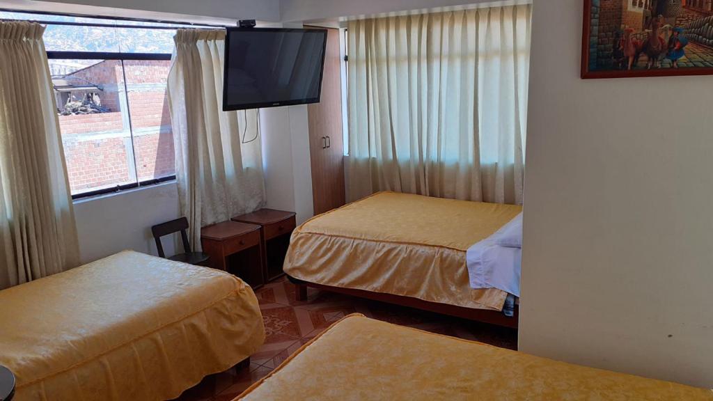 Cama o camas de una habitación en Casa Koch Hostel