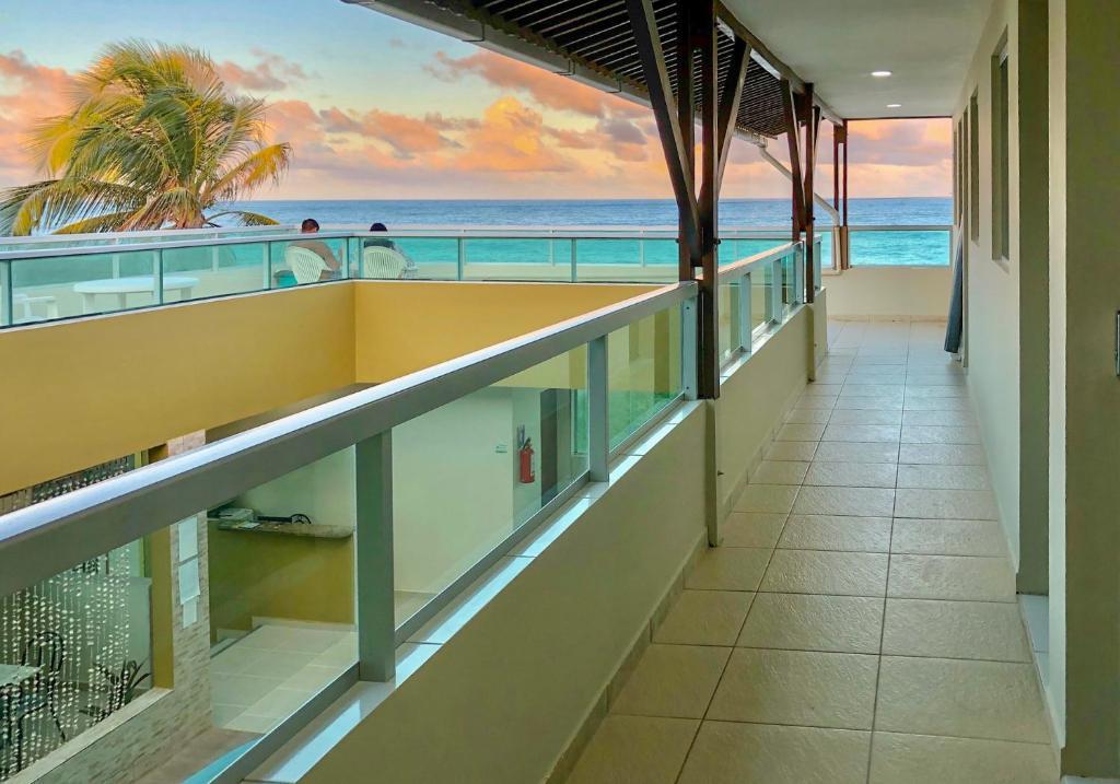 Uma varanda ou terraço em Novo Hotel Dona Felicidade