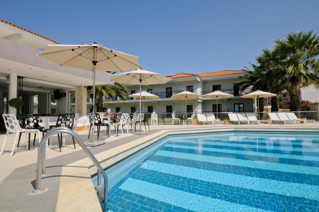 The swimming pool at or near Aristotelis Hotel