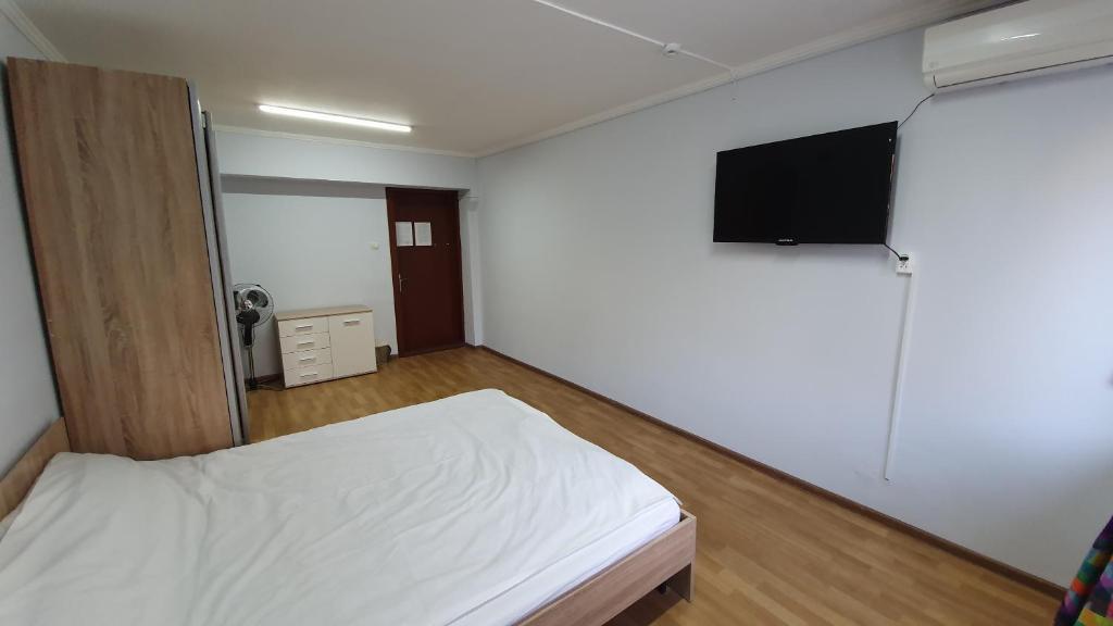 Кровать или кровати в номере Хостел «Гудзон»