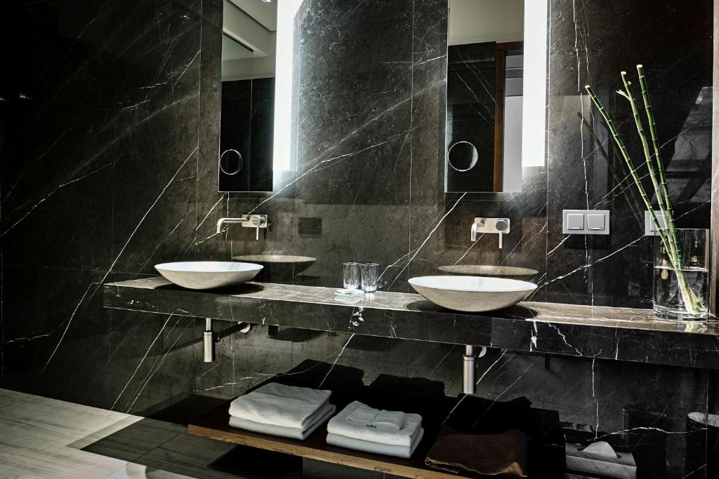 A bathroom at Hotel Stary