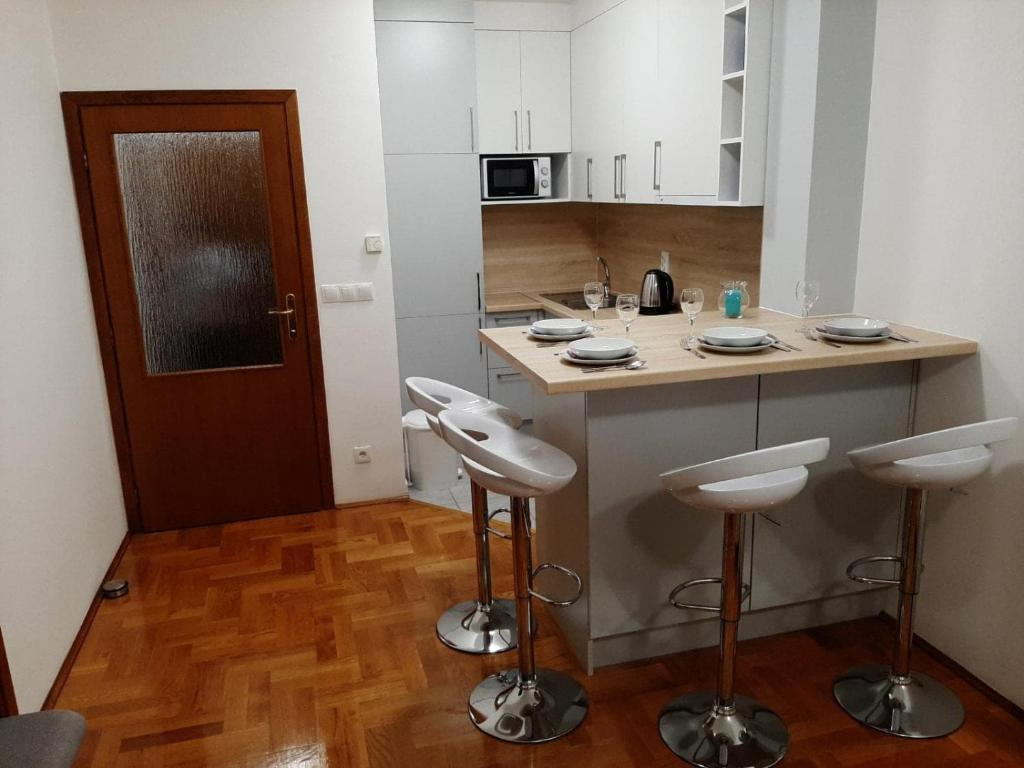Koupelna v ubytování Apartman Jelačić Vinkovci