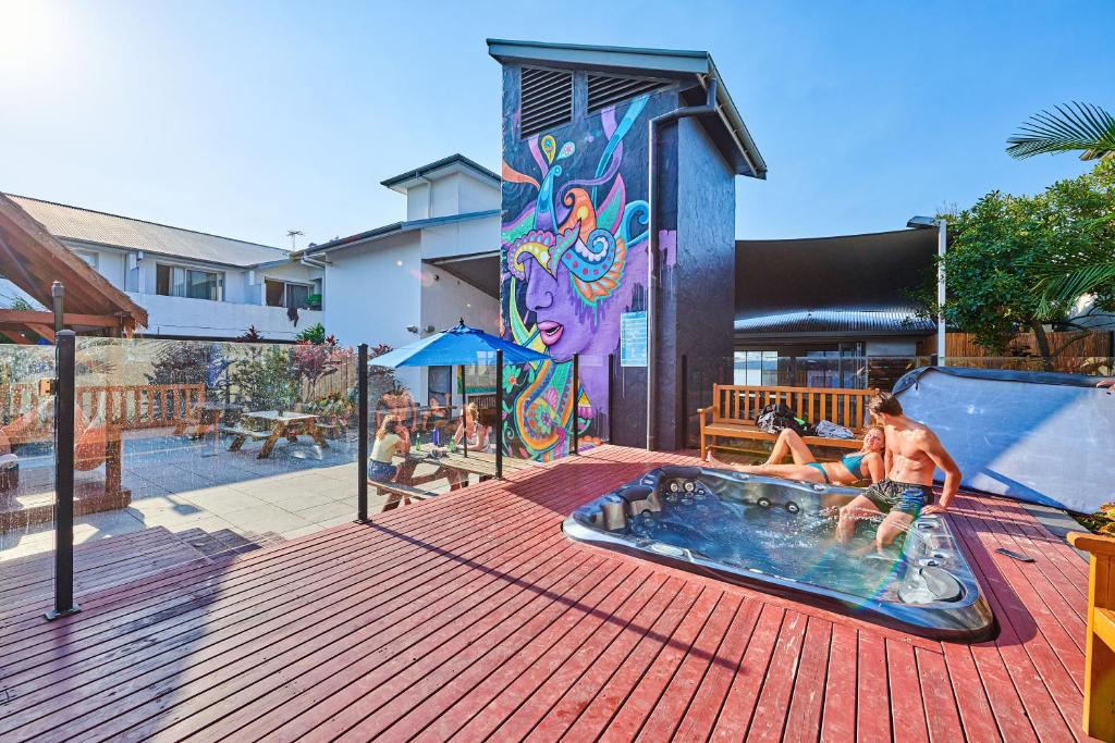 The swimming pool at or near Nomads Byron Bay Backpackers