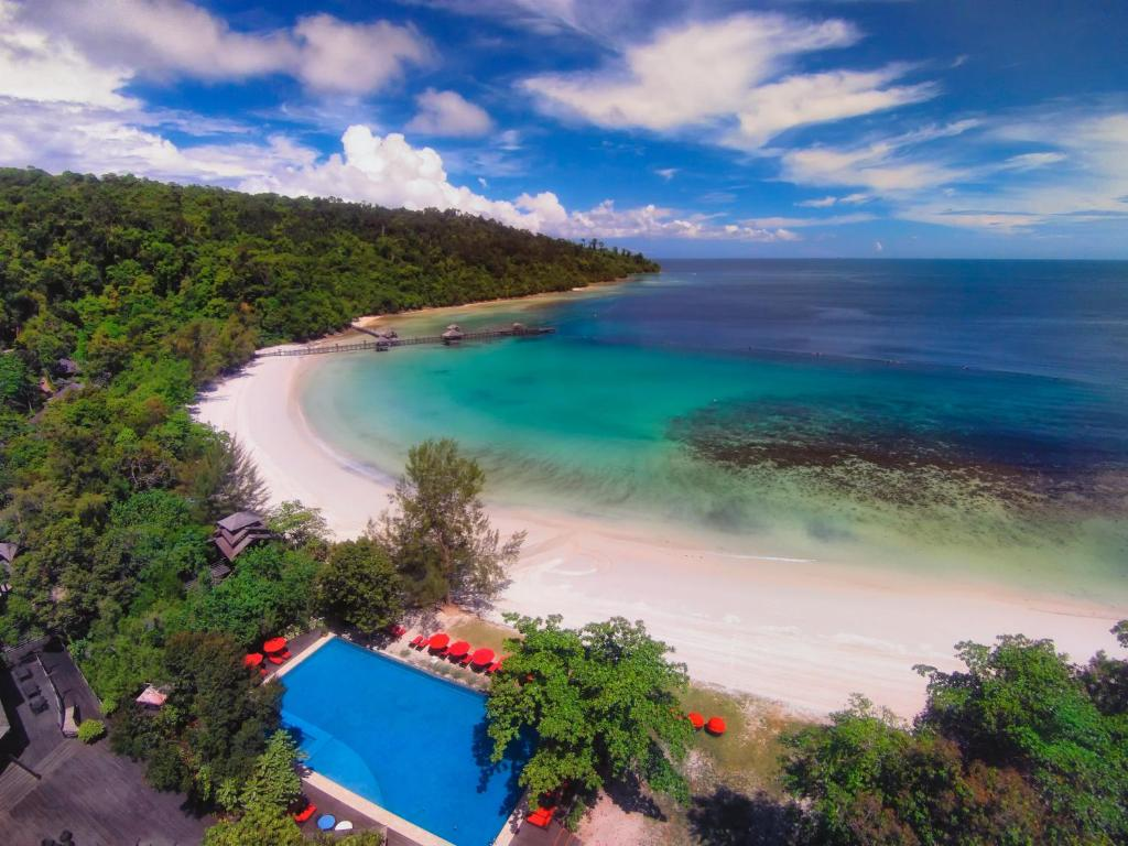 A bird's-eye view of Bunga Raya Island Resort & Spa
