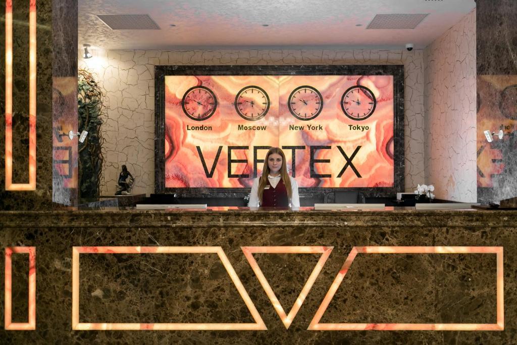 Лобби или стойка регистрации в VERTEX hotel