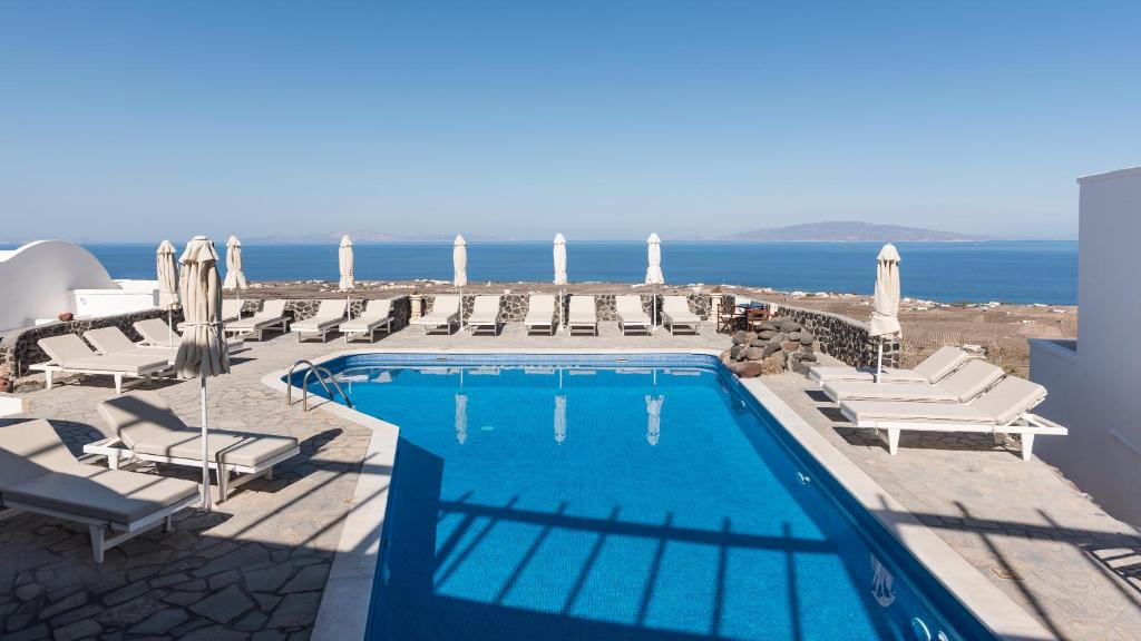 A view of the pool at Agnadi Villa or nearby