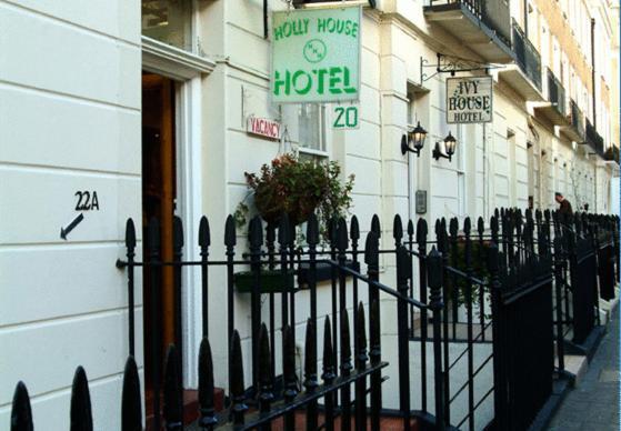 Het logo of bord voor het hotel