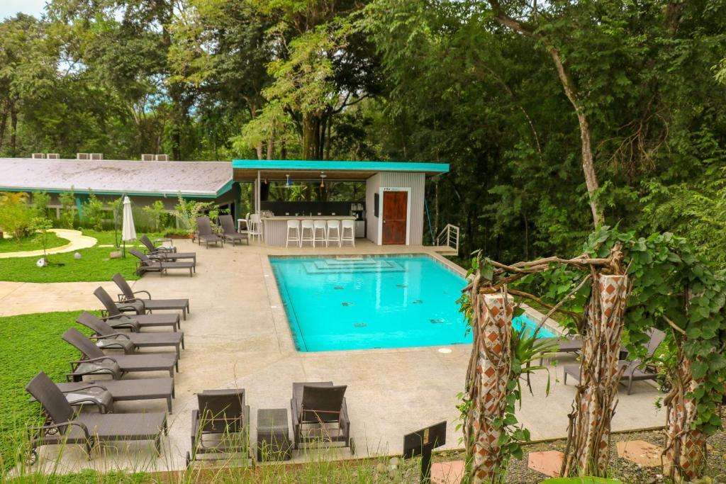 The swimming pool at or near Teva Jungle Hotel & Hostel