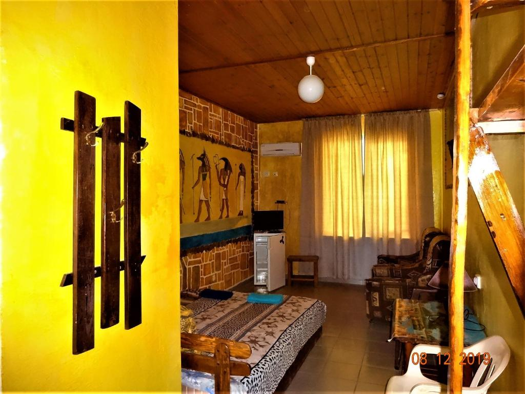 A seating area at Guest House Azovsafari