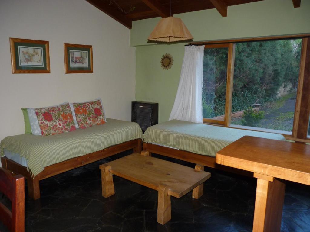 Un lugar para sentarse en cabaña los notros 190
