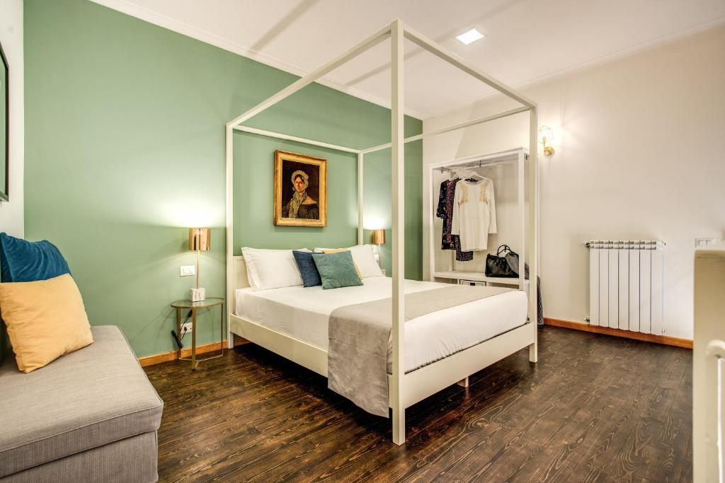 A bed or beds in a room at Casa Hosteno