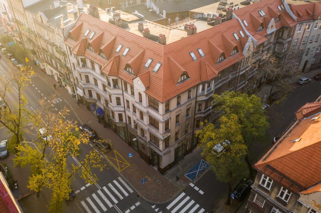 """A bird's-eye view of Aparthotel Hornigold """"W Zielonej Kamienicy"""""""