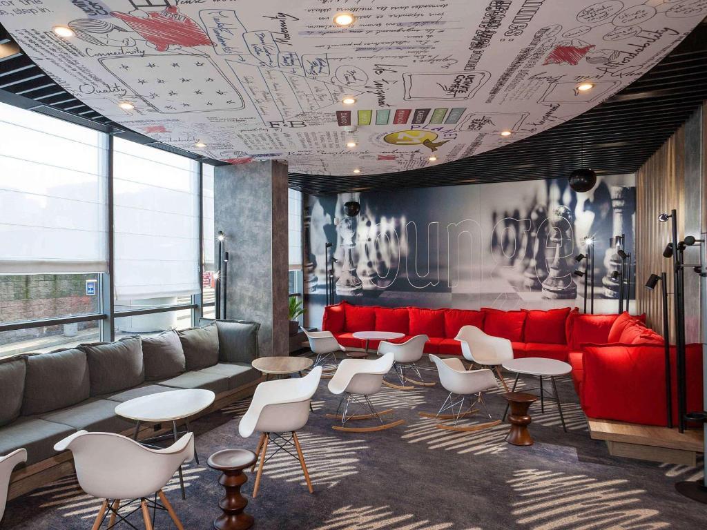 Lounge nebo bar v ubytování ibis Kiev Railway Station