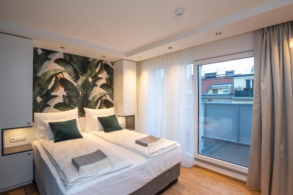 Ein Bett oder Betten in einem Zimmer der Unterkunft Wilmas