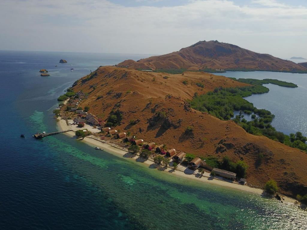 A bird's-eye view of Komodo Resort