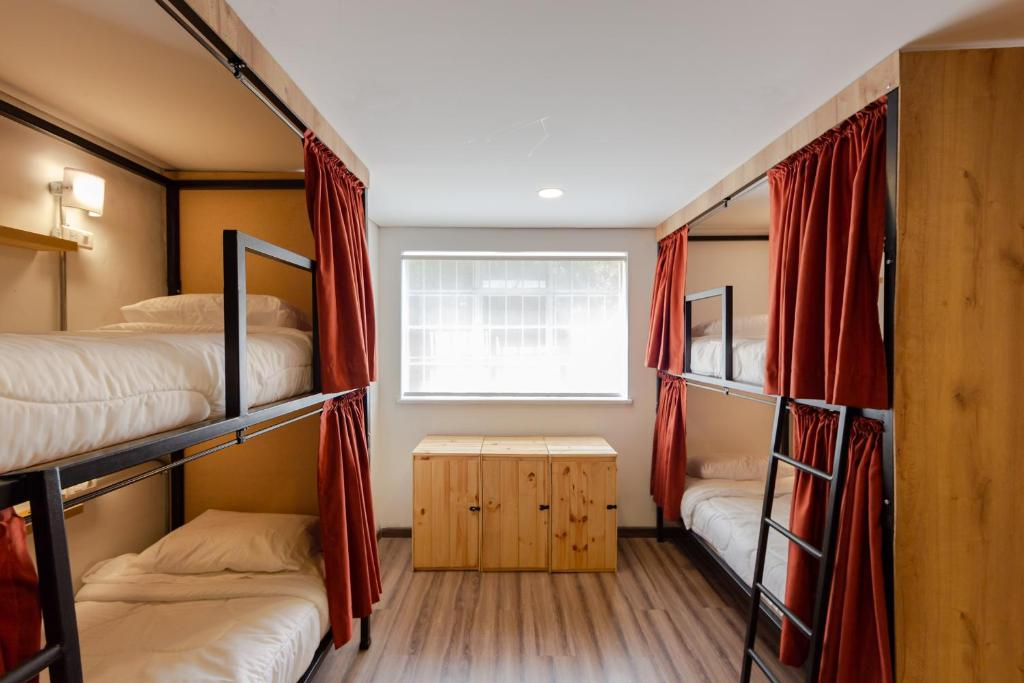 A bunk bed or bunk beds in a room at Closer Hostel