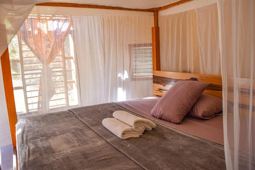 Un ou plusieurs lits dans un hébergement de l'établissement Villas Ecotucan