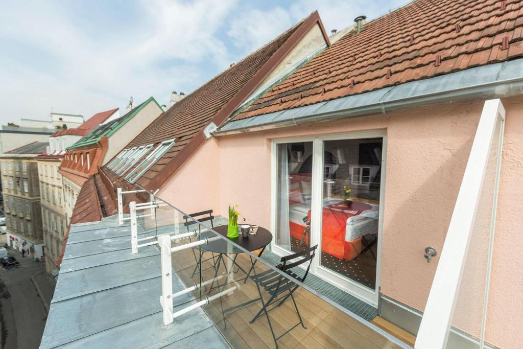 Un balcón o terraza de City Stay Vienna – Lugeck