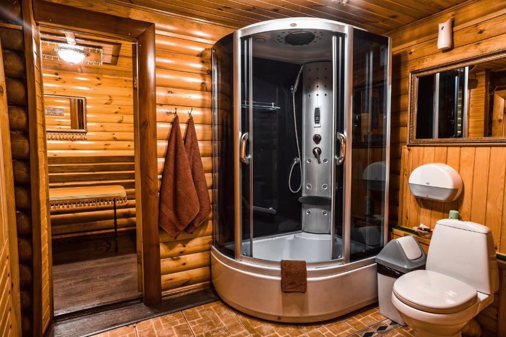 Ванная комната в Отель Раздолье