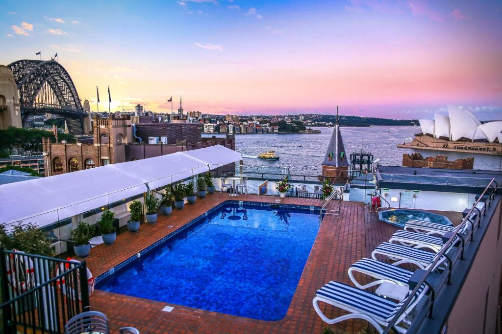 The swimming pool at or near Rydges Sydney Harbour (Formerly Holiday Inn Old Sydney)