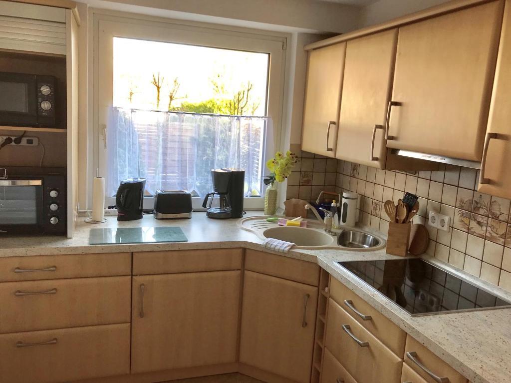 Küche/Küchenzeile in der Unterkunft Abelia Apartment