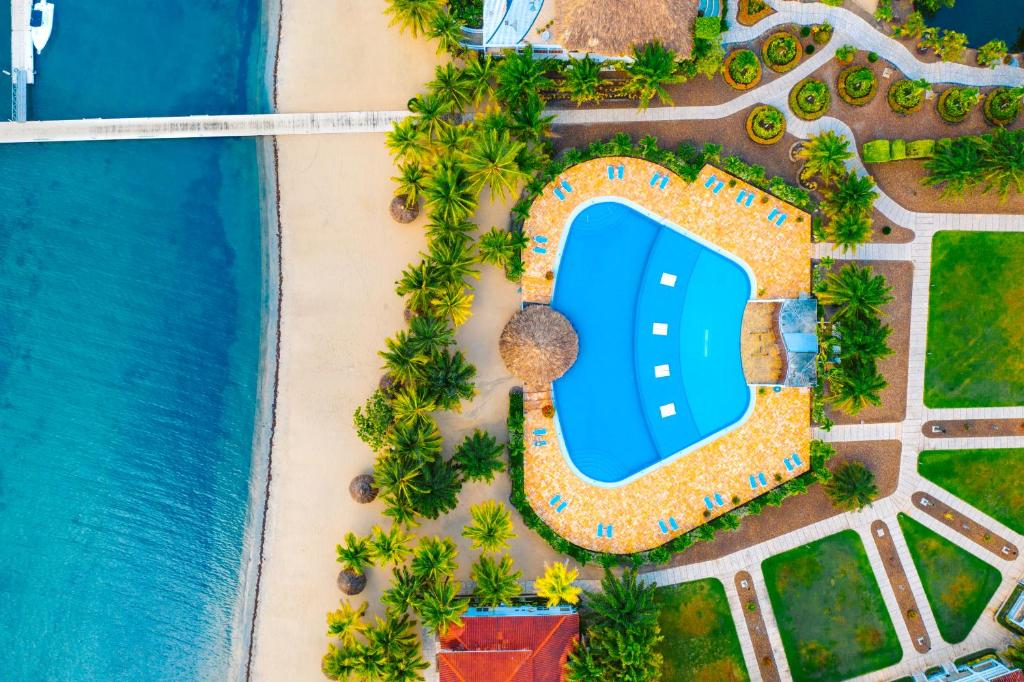 A bird's-eye view of The Placencia, a Muy'Ono Resort