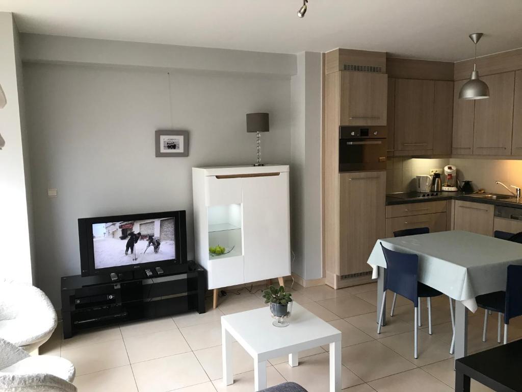 Cuisine ou kitchenette dans l'établissement Appartement Koksijde