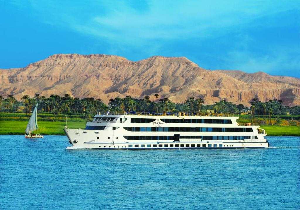 A bird's-eye view of The Oberoi Zahra, Luxury Nile Cruiser