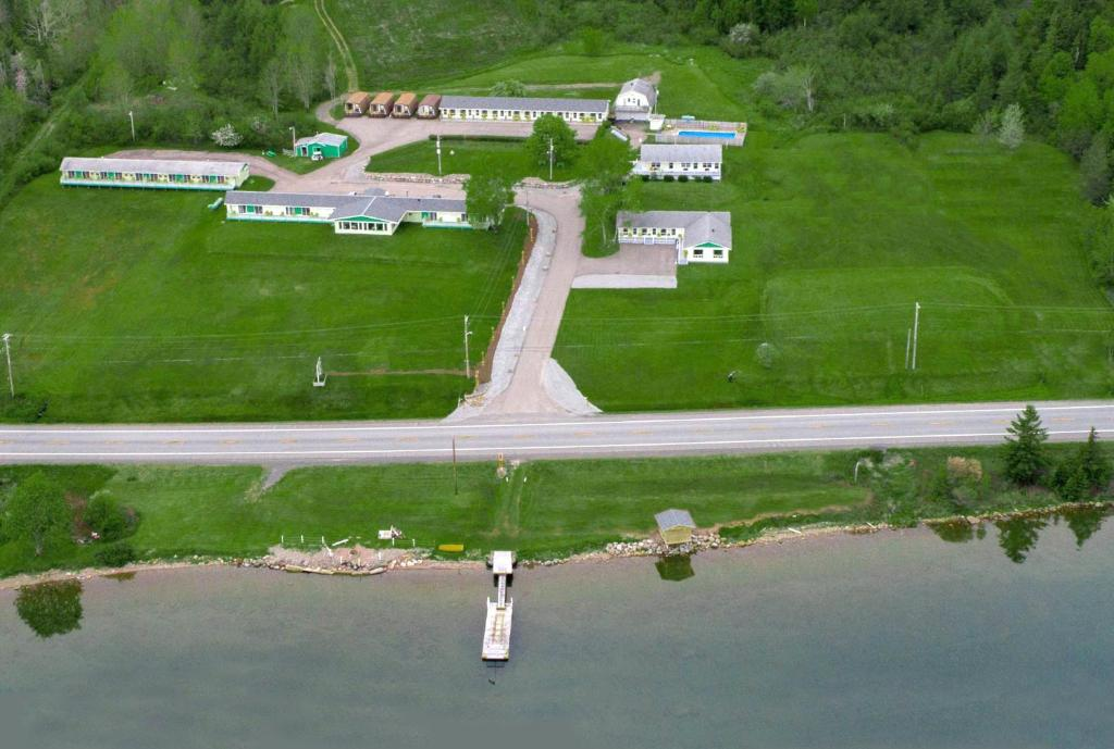 A bird's-eye view of Cabot Trail Motel