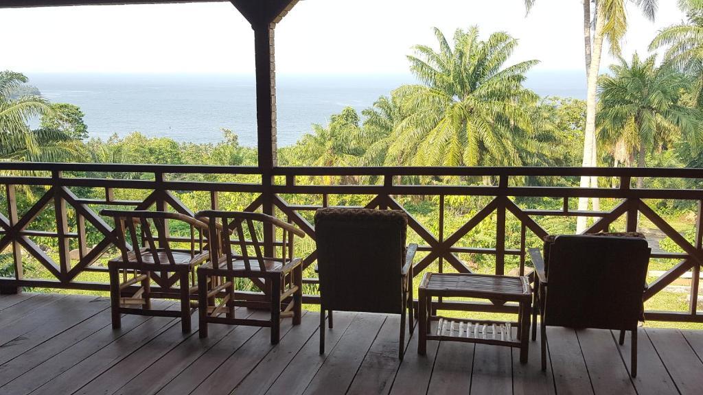 Ein Balkon oder eine Terrasse in der Unterkunft Roça Monte Forte