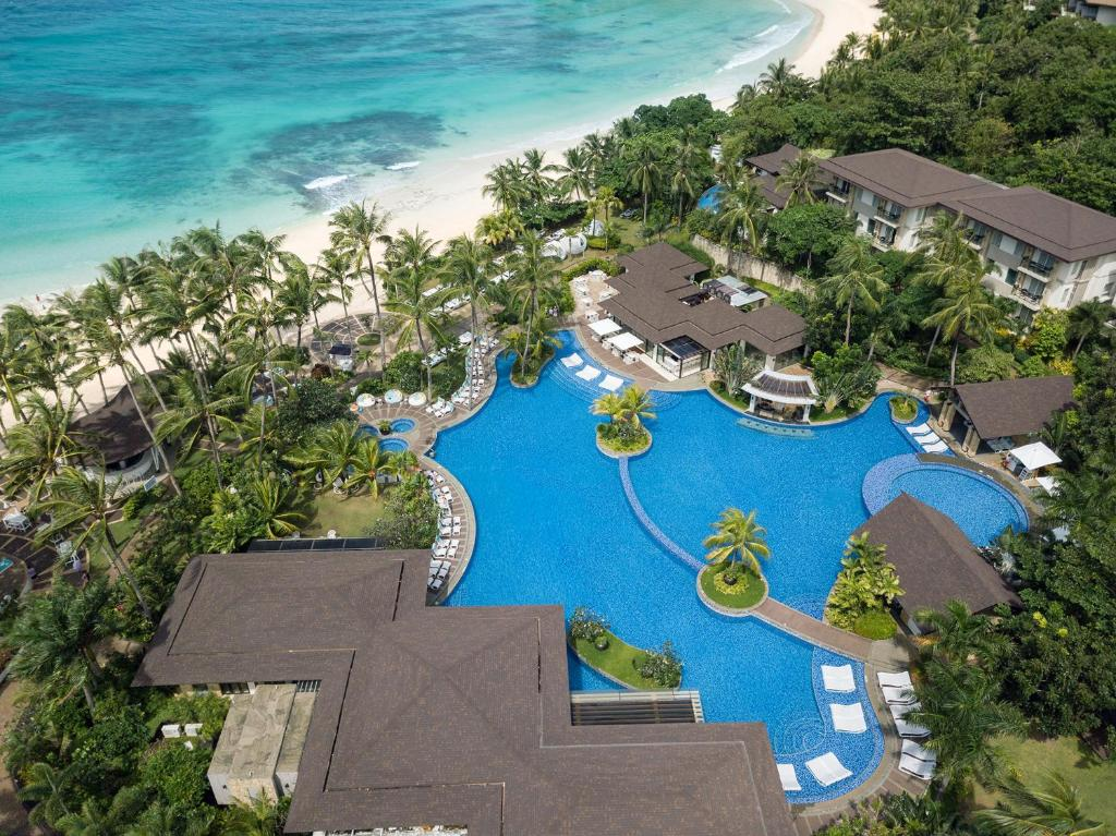 A view of the pool at Movenpick Resort & Spa Boracay or nearby