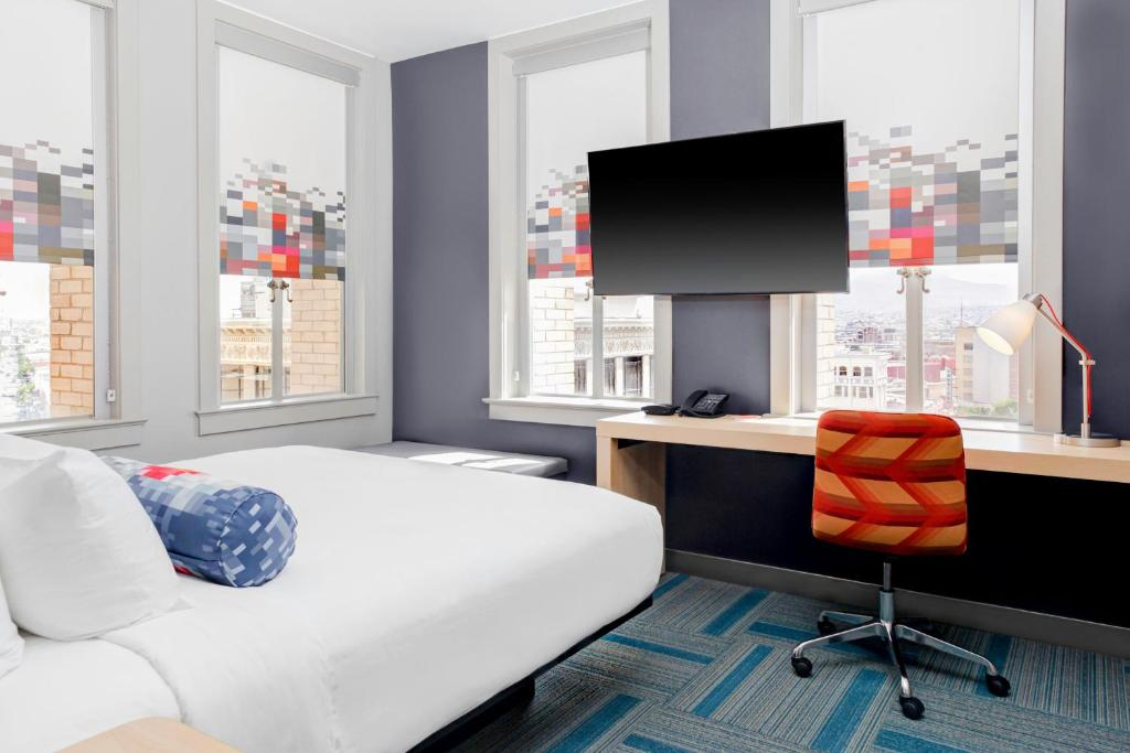 A television and/or entertainment center at Aloft El Paso Downtown