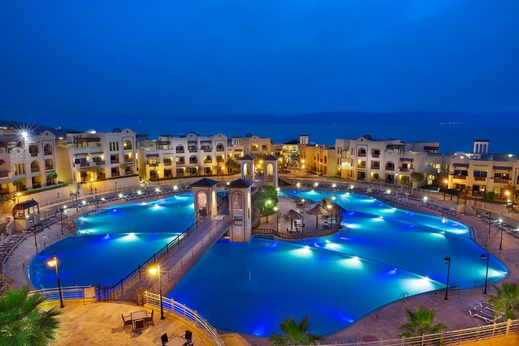 A view of the pool at Crowne Plaza Jordan Dead Sea Resort & Spa or nearby