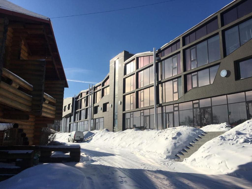 apartments on the Baikal during the winter